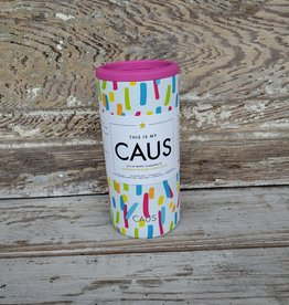 Caus Skinny Can Cooler Paint Splash