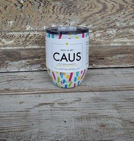 Caus Wine Tumbler Paint Splash