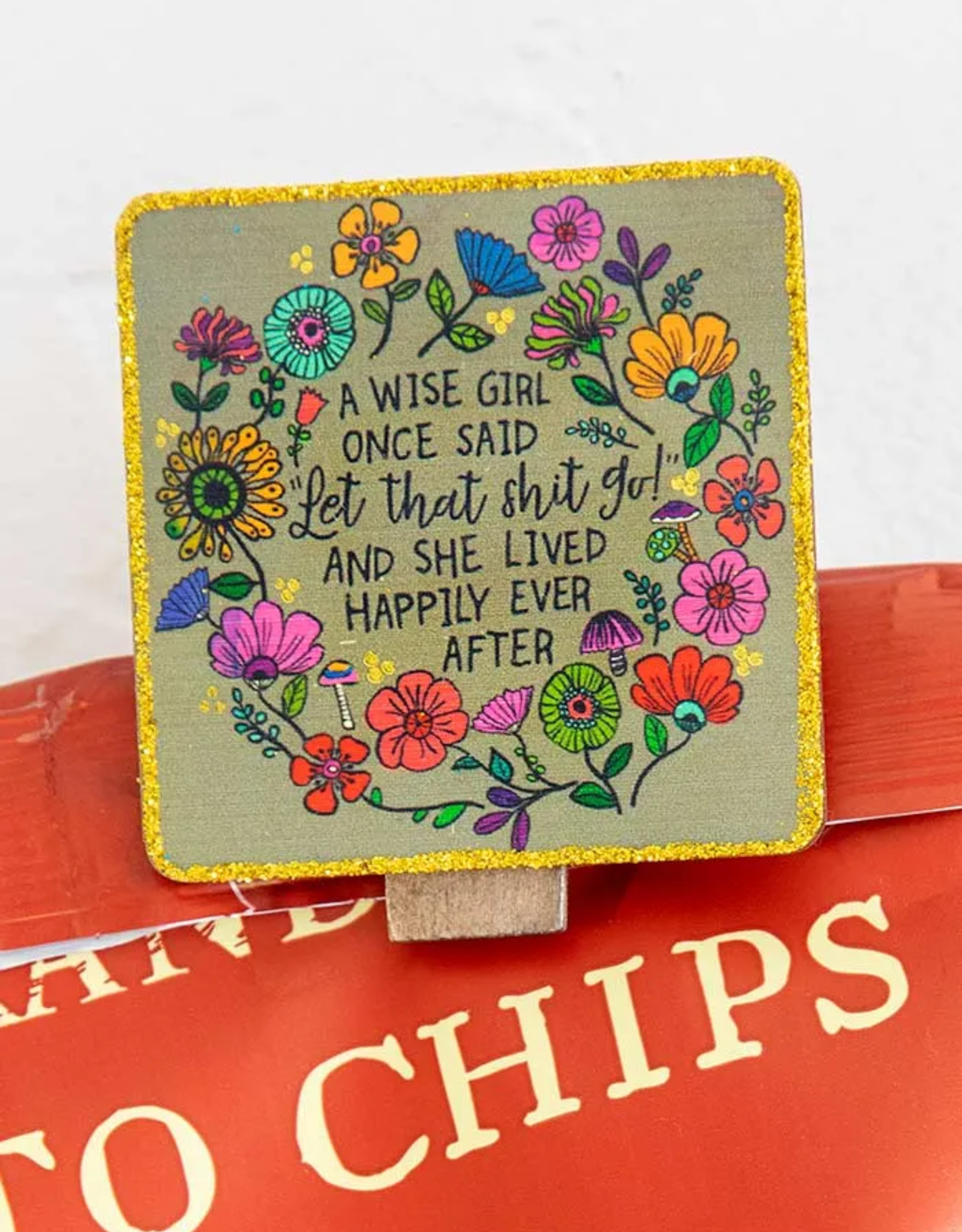 Wise Girl Chirp Magnet Clip