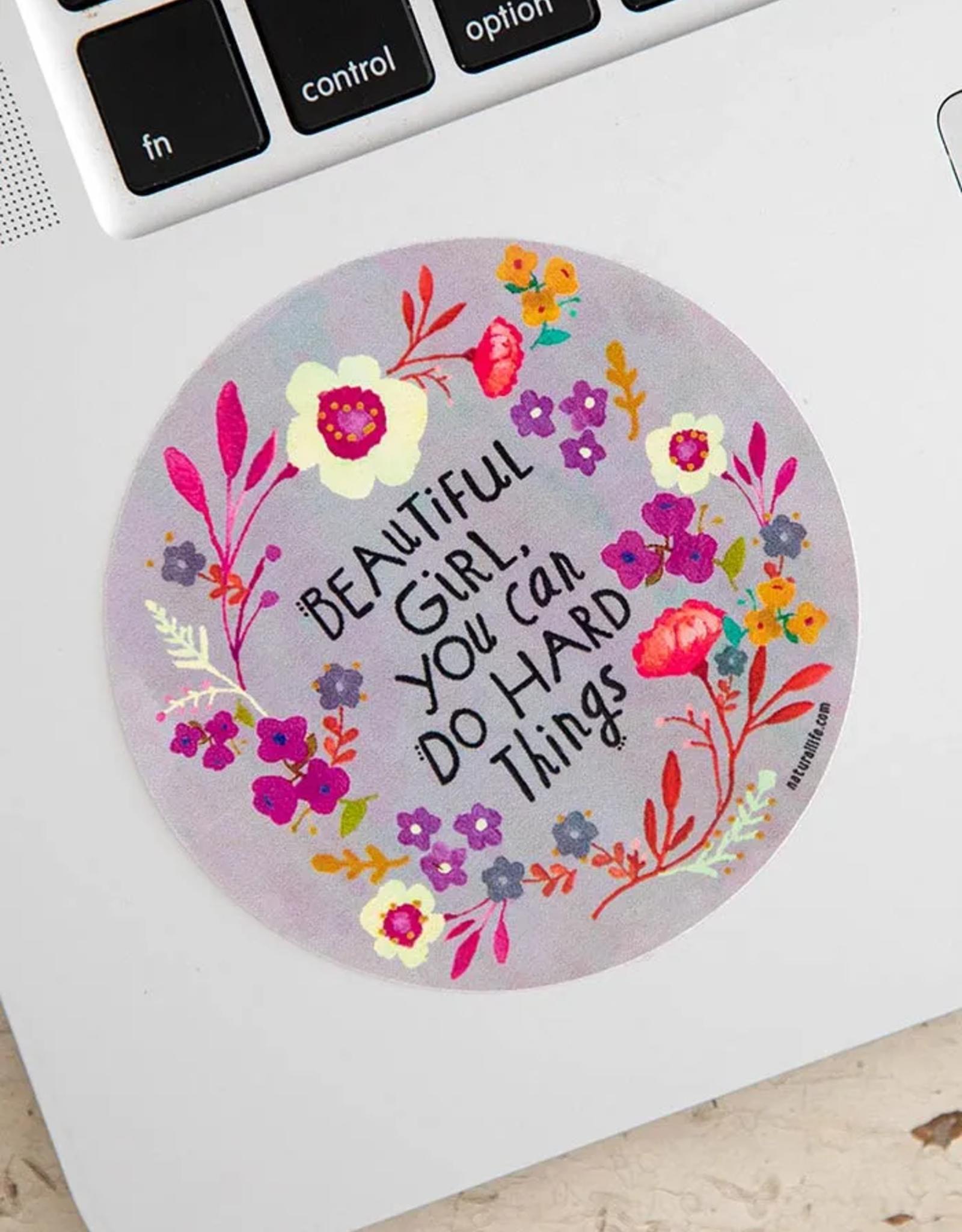 Beautiful Girl Vinyl Sticker