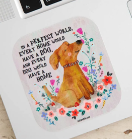 Perfect World Dog Vinyl Sticker