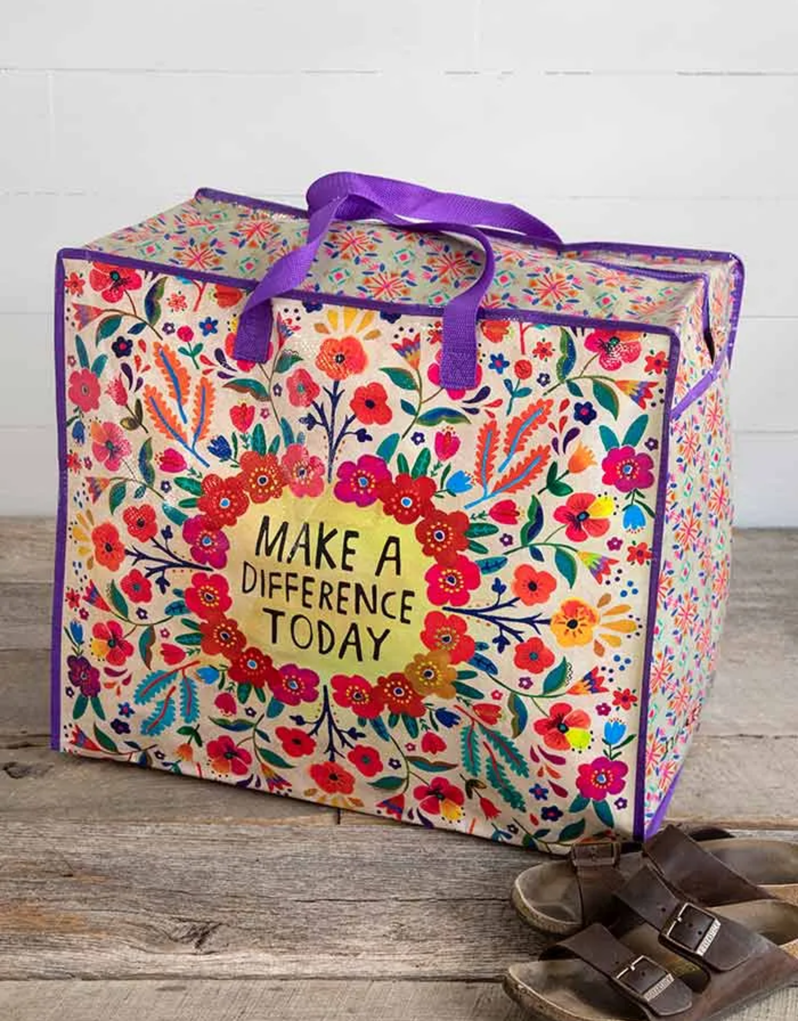 Make A Difference Jumbo Zip Tote