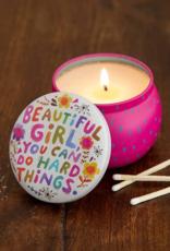 Beautiful Girl Mini Candle Tin