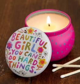 Beautiful Girl Mini Candle Tin