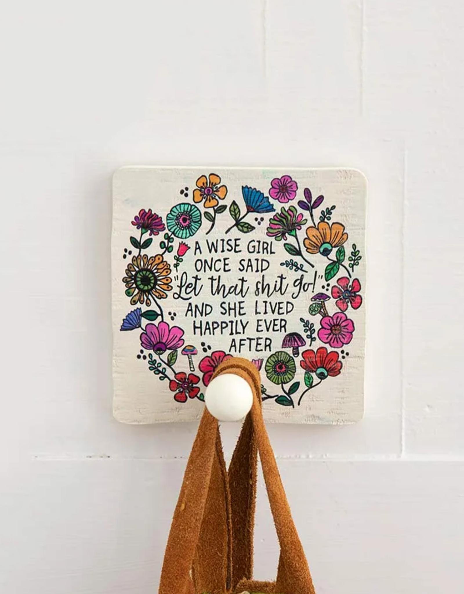 Wise Girl Wood Wall Hook