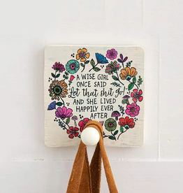 Wise Girl Wood Wall Hook