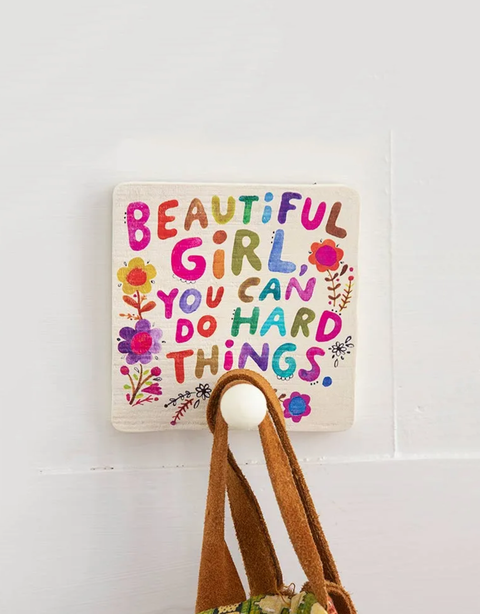 Beautiful Girl Wood Wall Hook