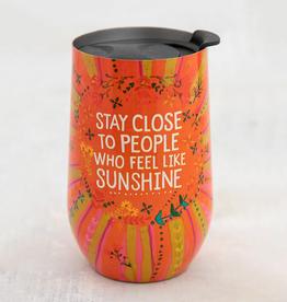 Close Sunshine Wine Tumbler