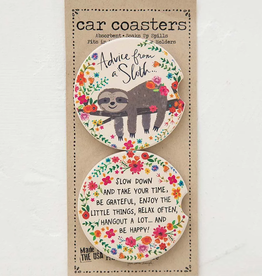 Advice From A Sloth Car Coasters