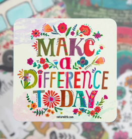 Make A Difference Vinyl Sticker