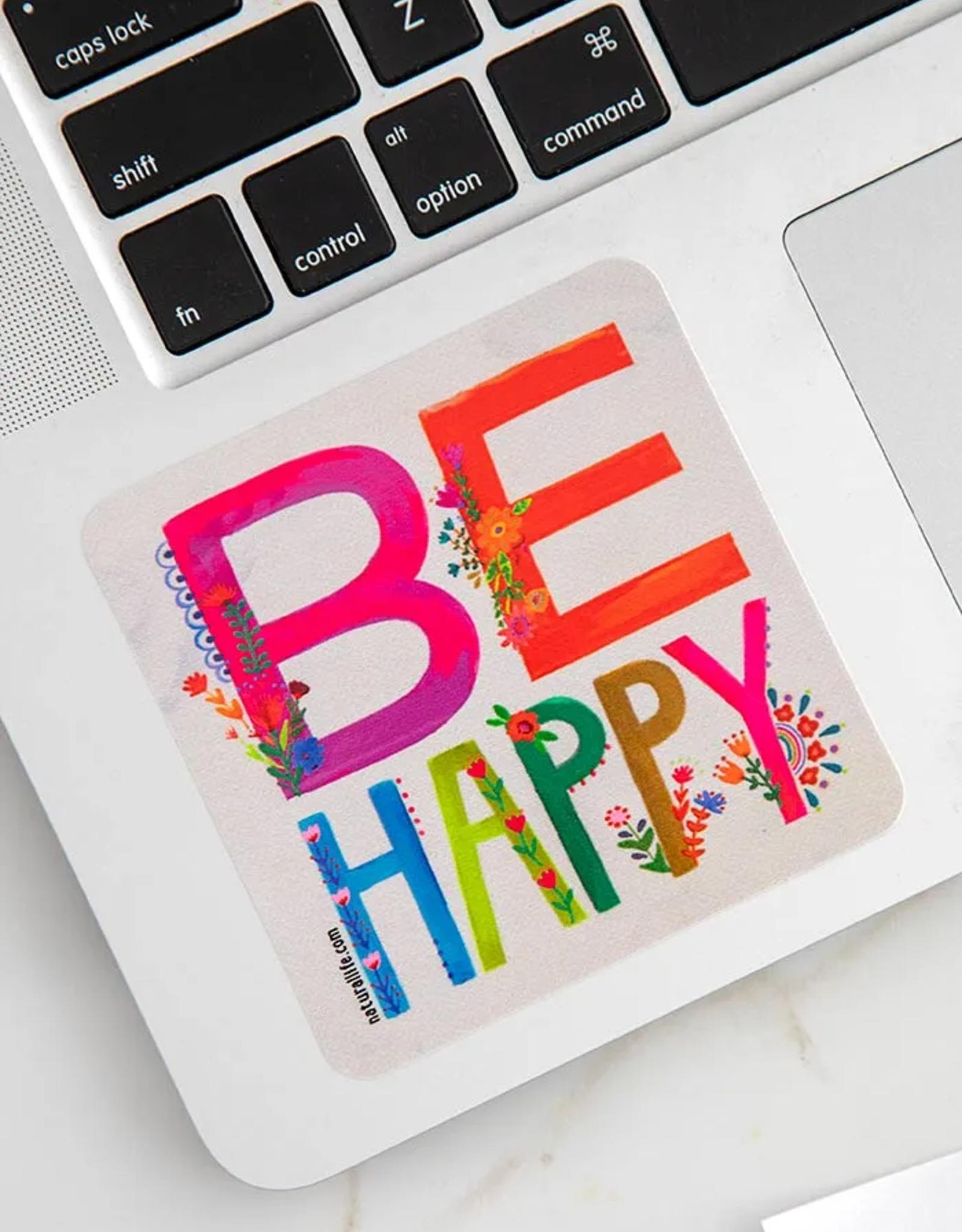 Be Happy Vinyl Sticker