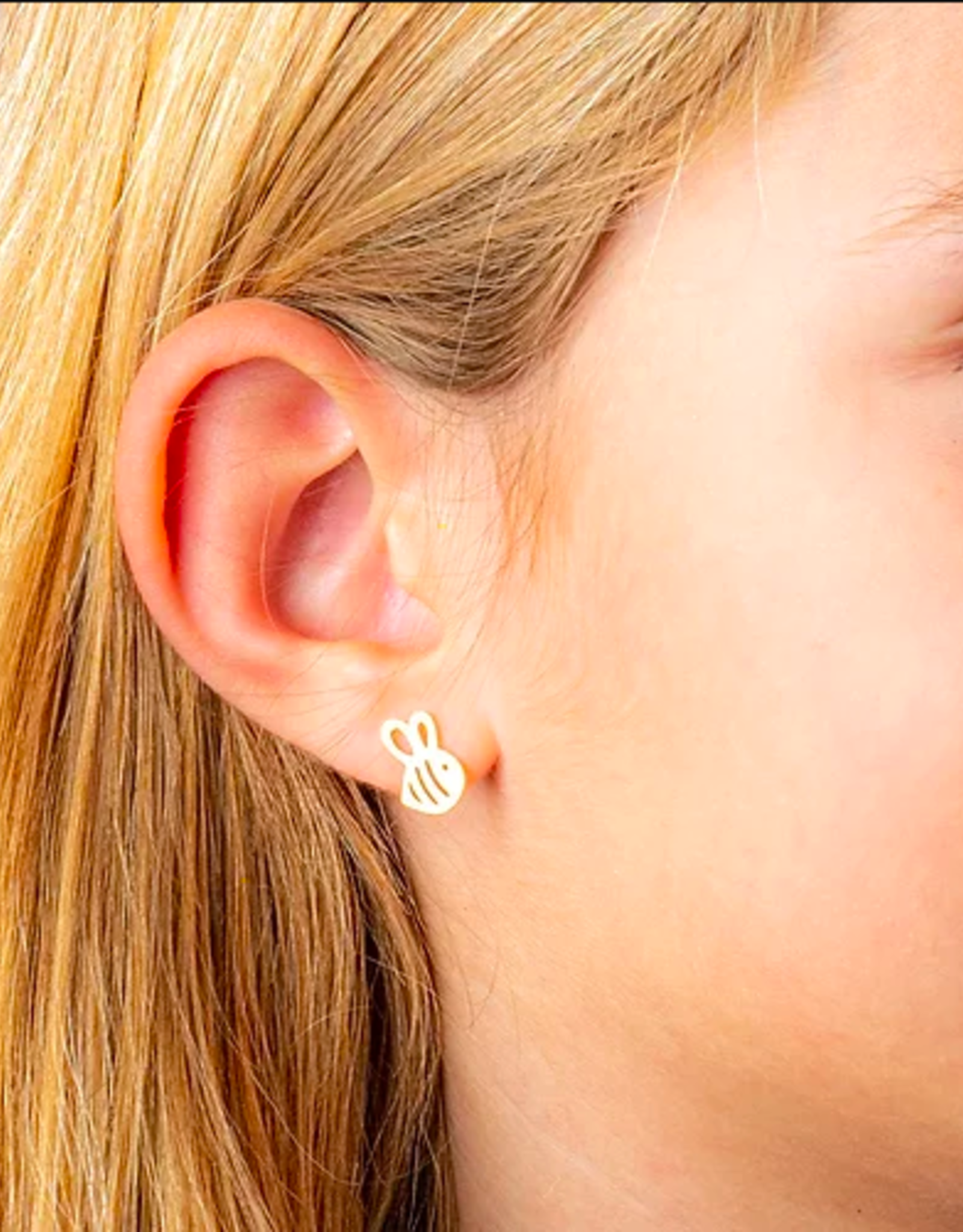 Busy Bee Rose Gold Earrings