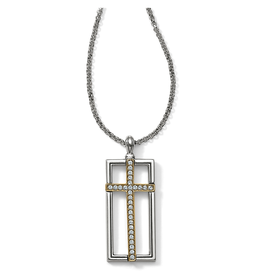 Brighton Holy Cross Necklace - Silver & Gold