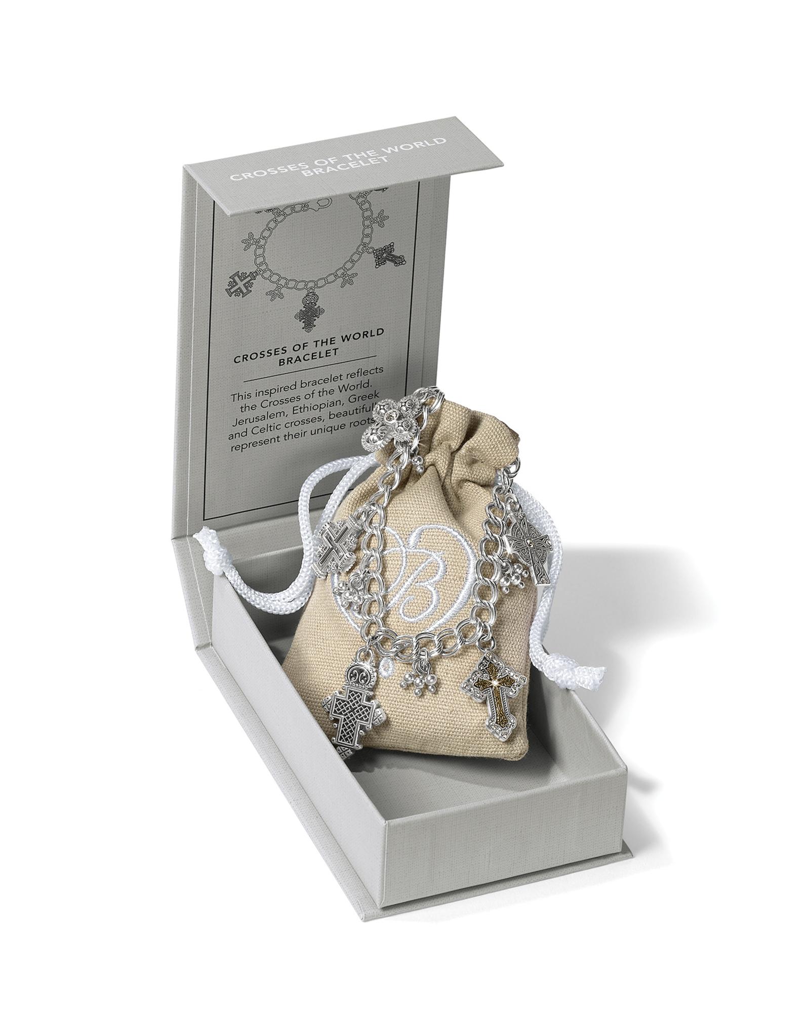 Brighton Crosses Of The World Bracelet Silver