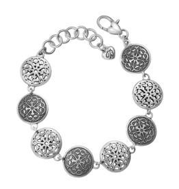 Brighton Ferrara Medallion Link Bracelet Silver