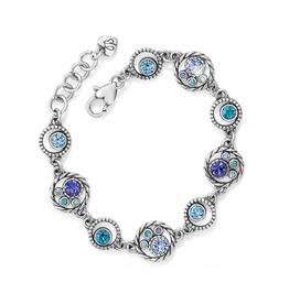 Brighton Halo Bracelet - Silver & Tanzanite