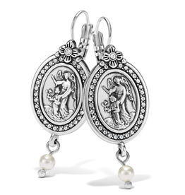 Brighton Guardian Angel Leverback Earrings - Silver