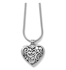 Brighton Contempo Heart Necklace - Silver
