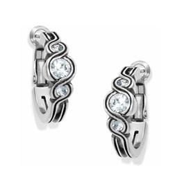 Brighton Infinity Sparkle Hoop Earrings - Silver