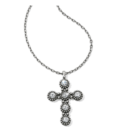 Brighton Twinkle Convertible Cross Necklace - Silver