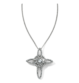 Brighton Illumina Petite Cross Necklace - Silver