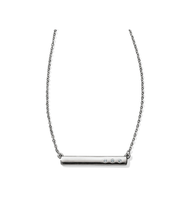 Brighton London Groove Mini Bar Reversible Necklace - Silver