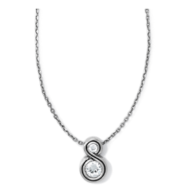 Brighton Infinity Sparkle Petite Necklace - Silver