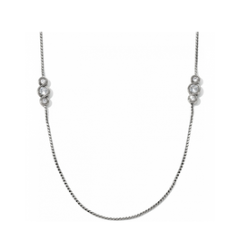Brighton Infinity Sparkle Long Necklace - Silver