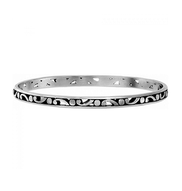Brighton Contempo Slim Bangle - Silver