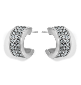 Brighton Meridian Zenith Hoop Earrings- Silver
