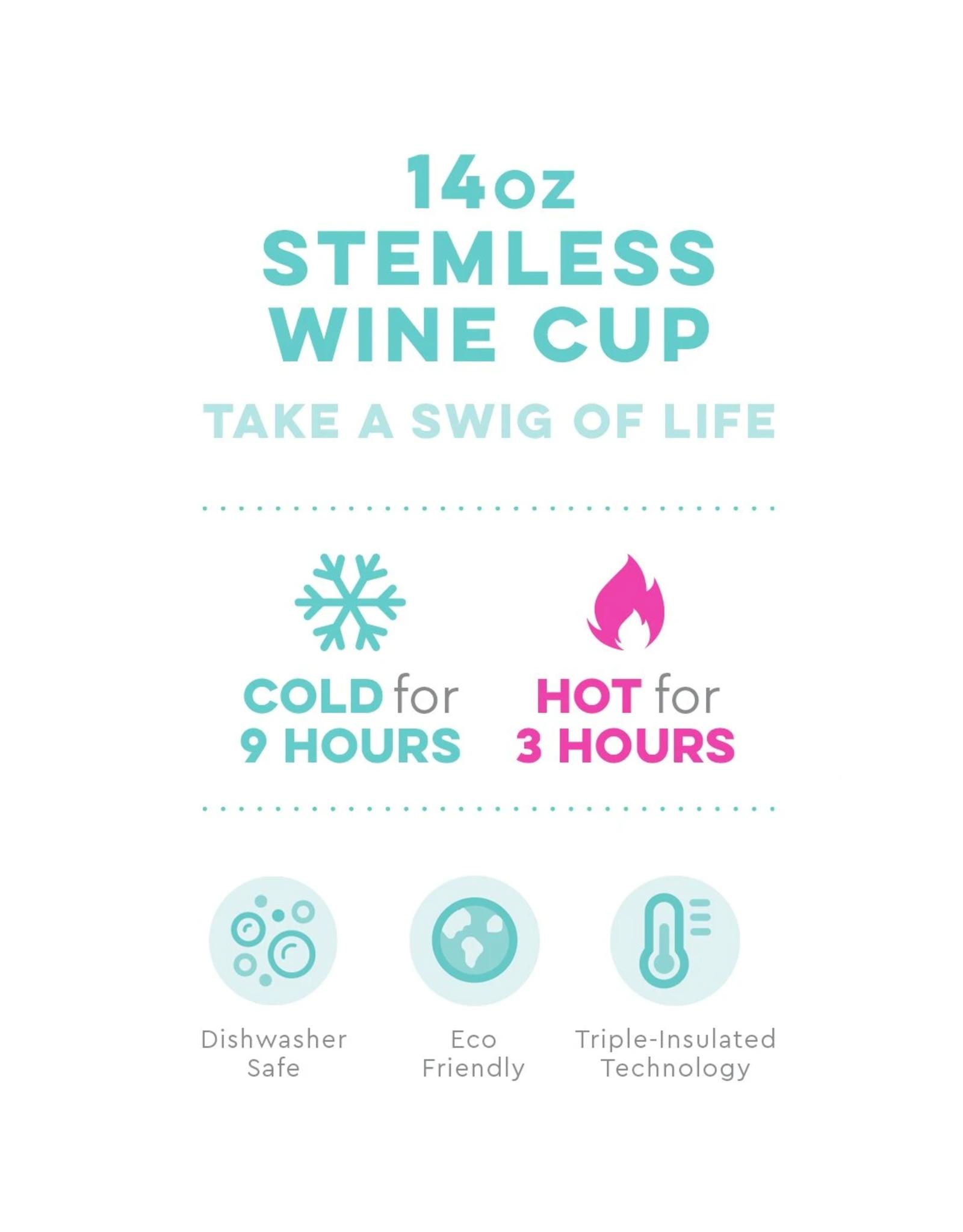 14oz Stemless Wine - Wanderlust