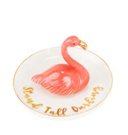 Eccolo Trinket Tray Pink Flamingo