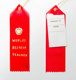 World's Bestest Teacher Ribbon
