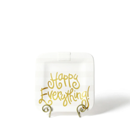Coton Colors Happy Everything Mini Platter - White Stripe
