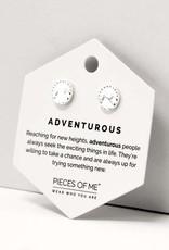 Pieces of Me Adventurous Earrings - Silver