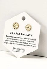Pieces of Me Compassionate Earrings - Gold