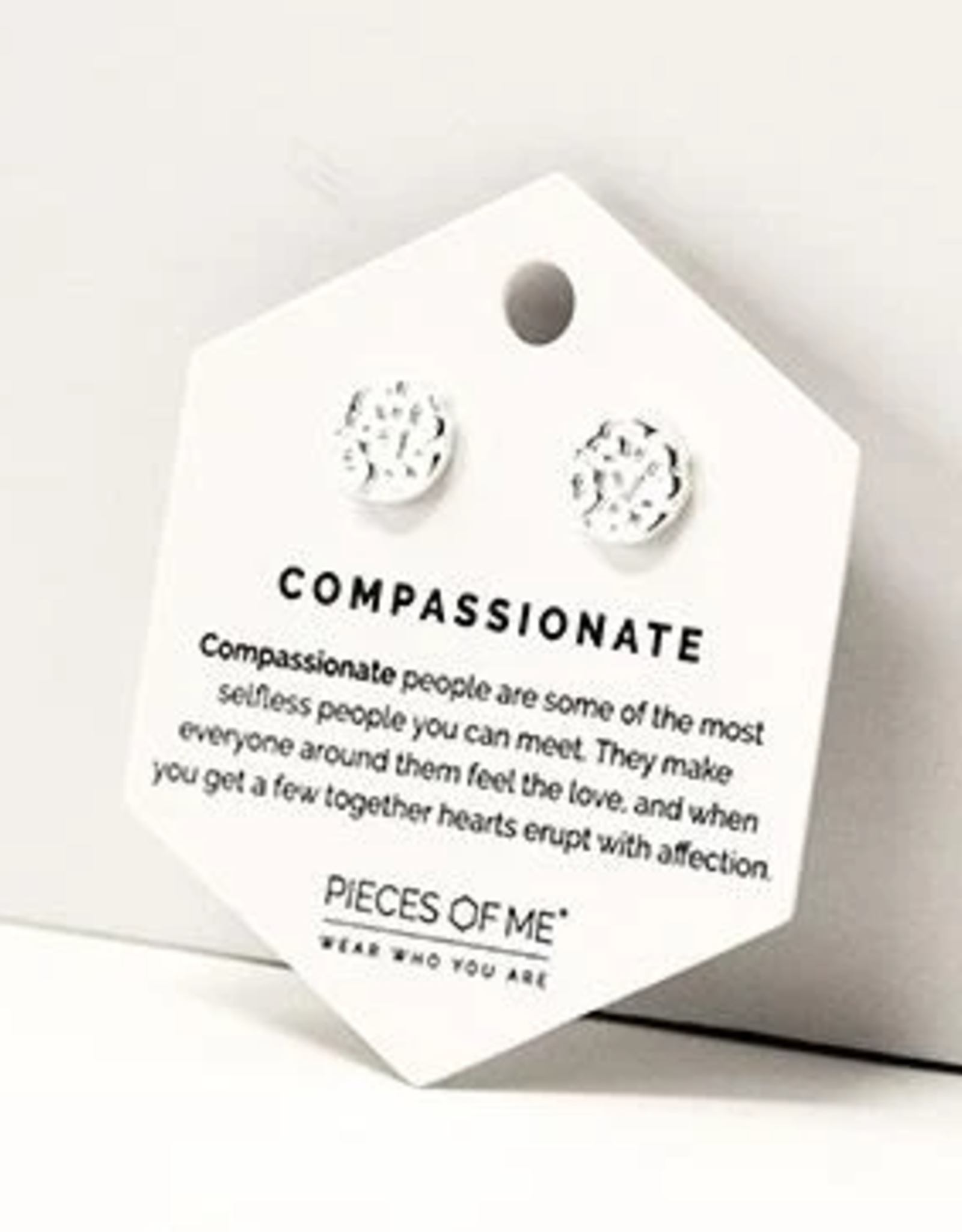 Pieces of Me Compassionate Earrings - Silver
