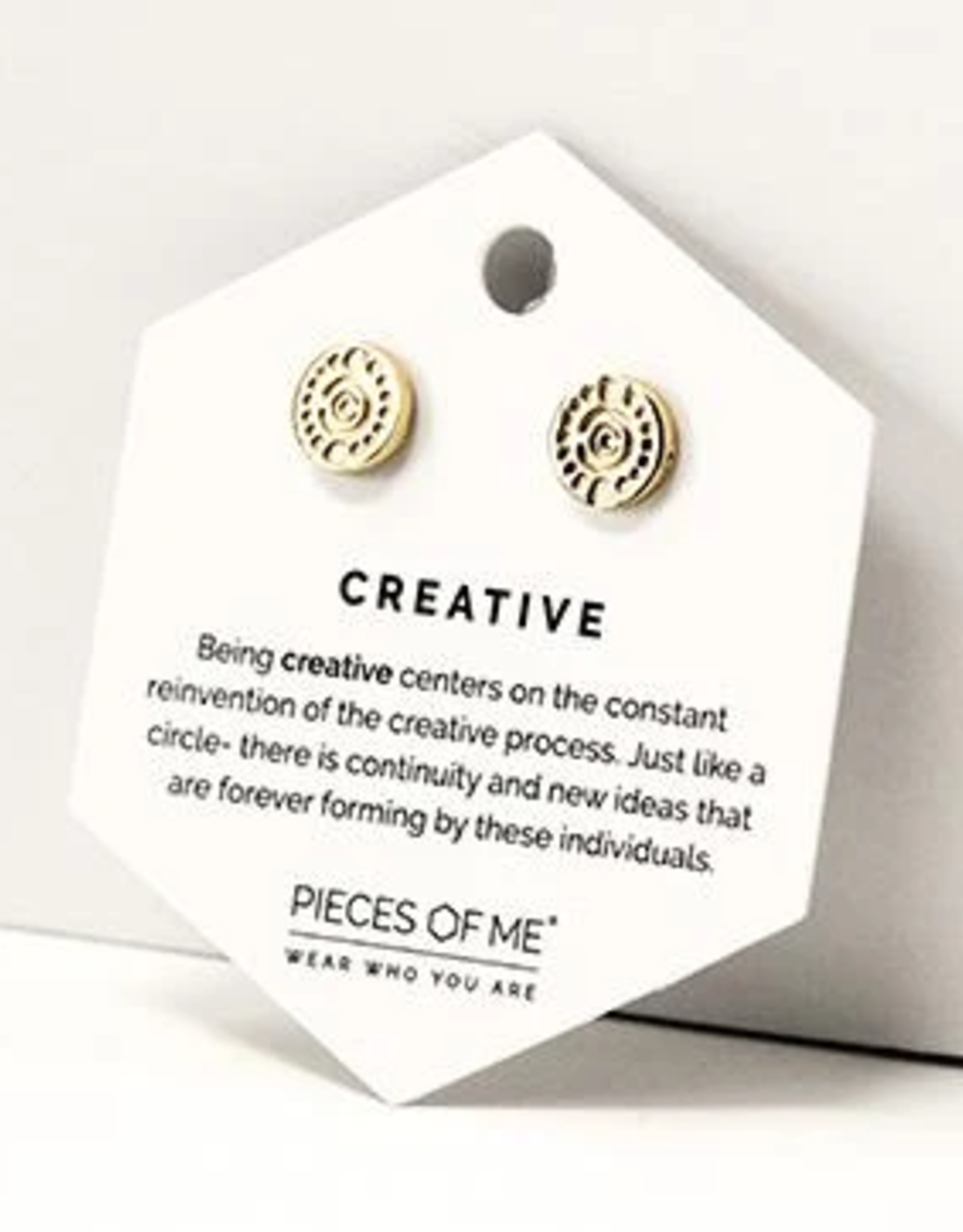 Pieces of Me Creative Earrings - Gold