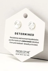 Pieces of Me Determined Earrings - Silver