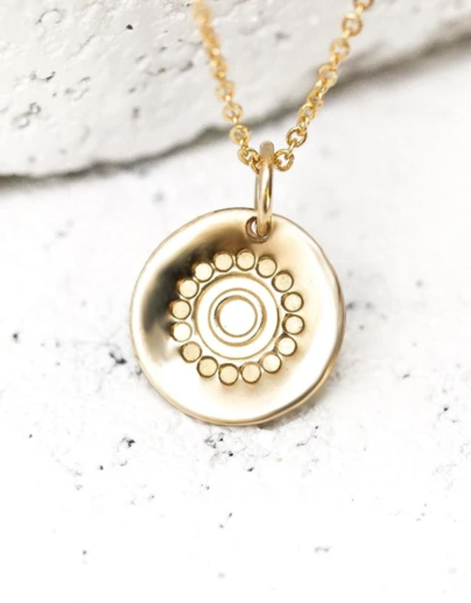 Pieces of Me Confident Necklace - Gold