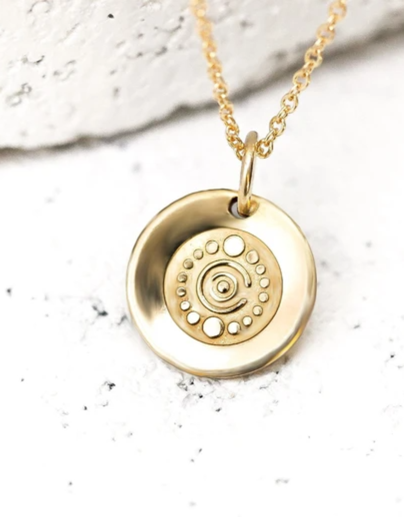 Pieces of Me Creative Necklace - Gold