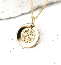 Pieces of Me Driven Necklace - Gold