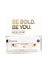 Pieces of Me Creative Cuff - Gold