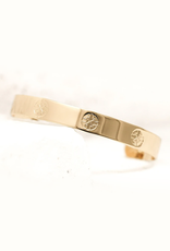 Pieces of Me Driven Cuff - Gold