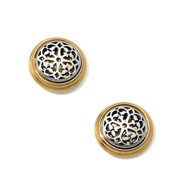 Brighton Ferrara Two Tone Post Earrings - Silver&Gold