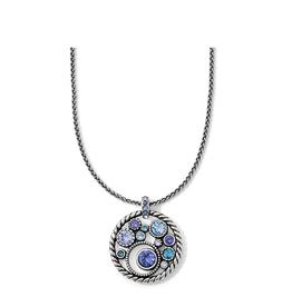 Brighton Halo Necklace - Silver&Tanzanite