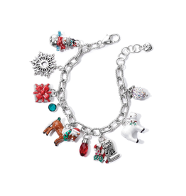 Brighton Christmas Carol Charm Bracelet - Silver&Multi