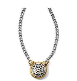 Brighton Ferrara Two Tone Short Necklace - Silver&Gold