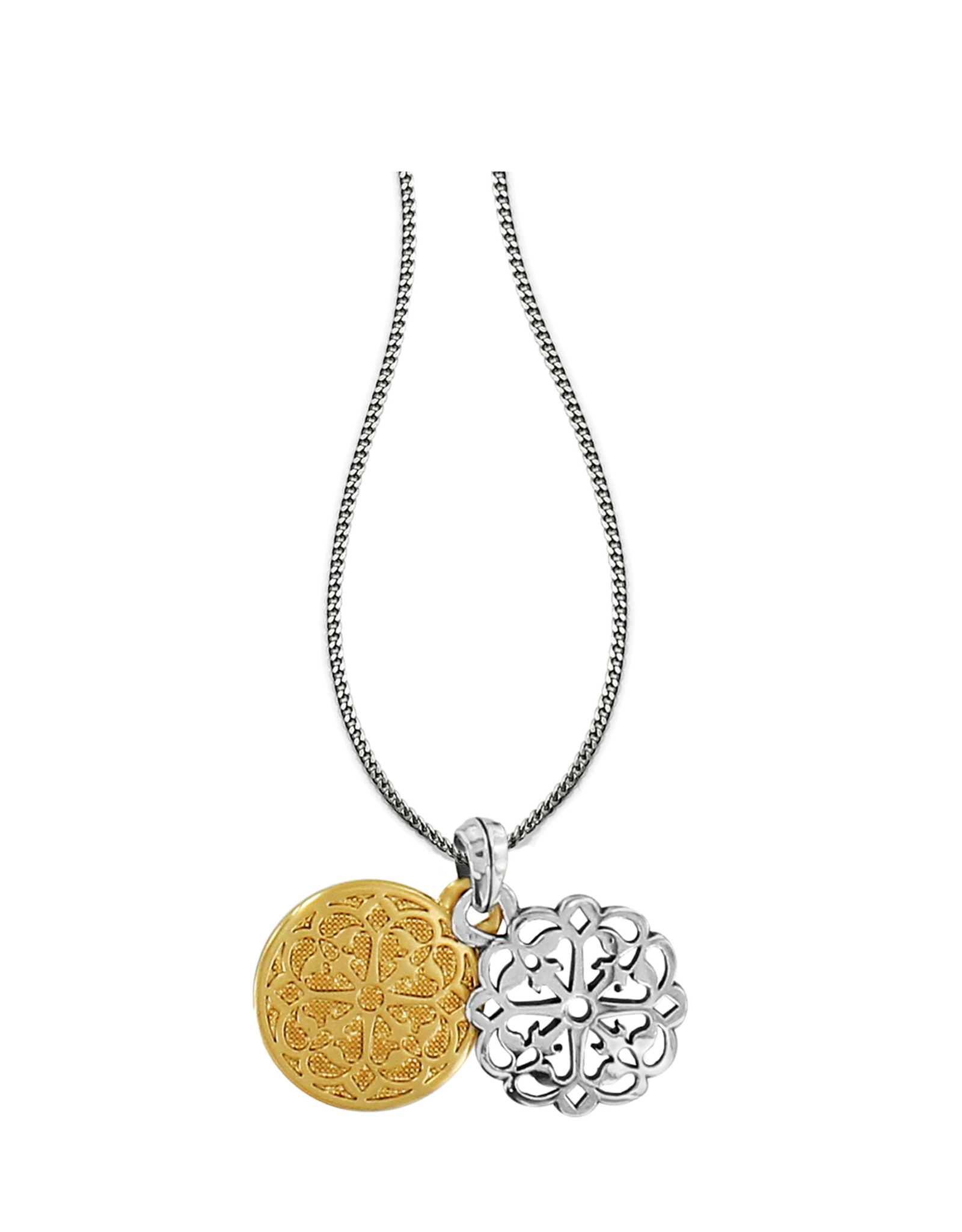Brighton Ferrara Two Tone Reversible Long Necklace - Silver&Gold
