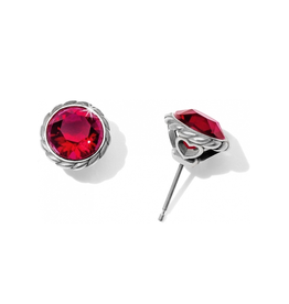 Brighton Iris Stud Earrings - Ruby